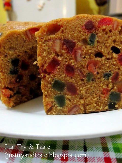 Just Try & Taste: Cake Buah Kukus (Steamed Fruitcake)