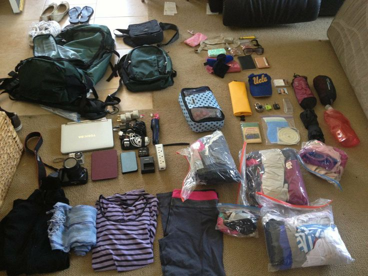 RTW Travel --> Packing really great list that breaks down categories