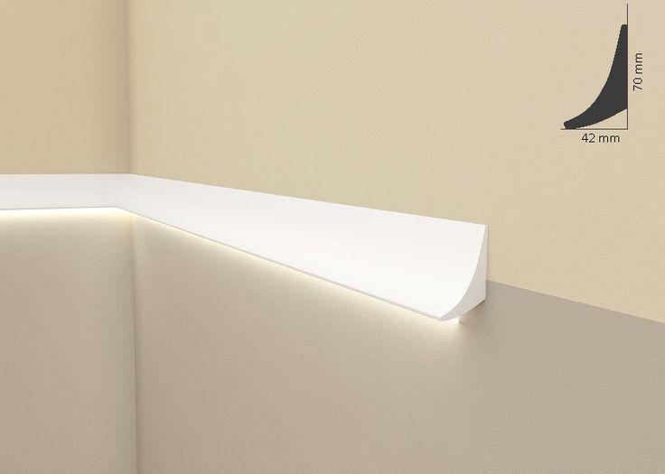 Popular Lichtleiste Wiesemann QL Zierleiste f r indirekte Beleuchtung aus hochfestem Polyurethan