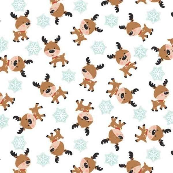 Benartex - Santa's Little Helper Deer - cotton fabric