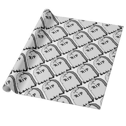 Rip Head stone Wrapping Paper - wrapping paper custom diy cyo personalize unique present gift idea