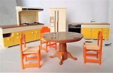 Vintage TOMY Smaller House Dollhouse Furniture KITCHEN