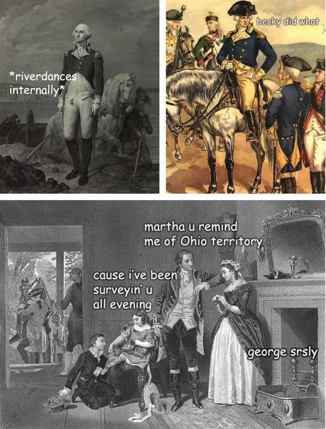 Adventures Of George Washington Post Historical Humor History Jokes George Washington Funny