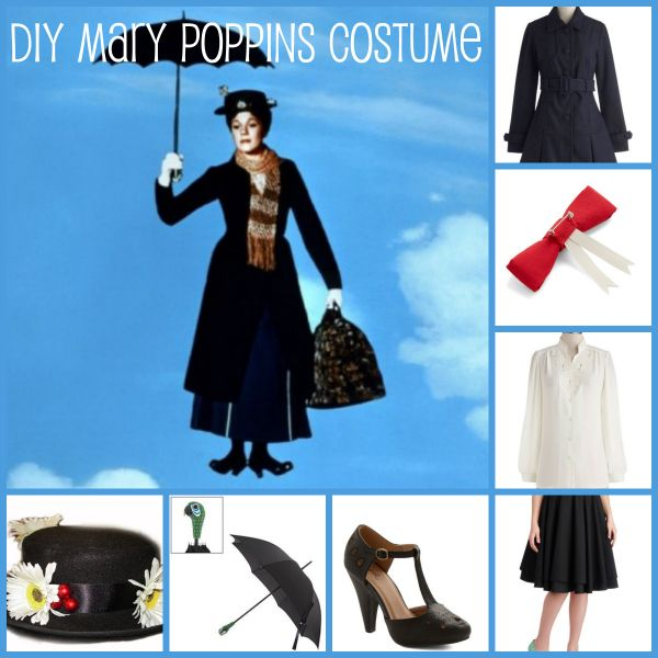 diy mary poppins costume right from your closet. Black Bedroom Furniture Sets. Home Design Ideas