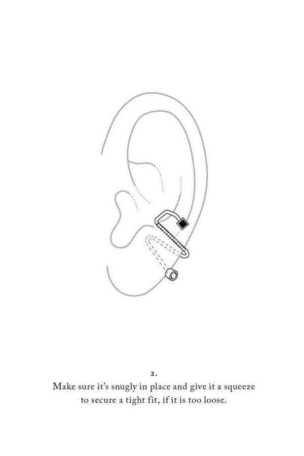 Avery Blanc Ear Cuff - 18K yellow gold - Maria Black