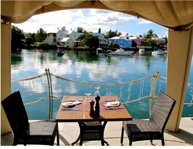 harbourfront restaurant bermuda | Harbourfront Restaurant & Komodaru sushi Lounge Bermuda dock 2