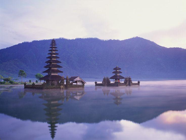 Pura Ulun Danu on Lake Bratan, Bali, Indonesia