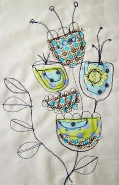freehand machine embroidery - Cerca con Google