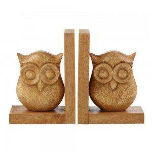 Acacia Owl Bookends