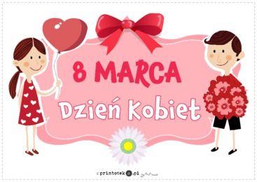 Dzień Kobiet - napis - Printoteka.pl