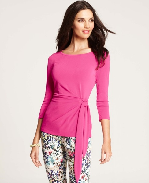 Ann Taylor - AT Work To Weekend - 3/4 Sleeve Wrap Top
