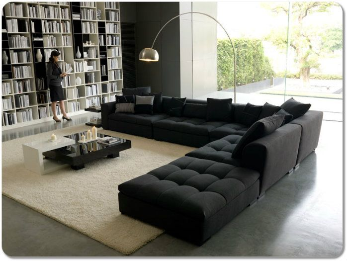 Awesome Large Black Sofa Magnificent Large Black Sofa 19 For Living Room Sofa Ideas With Large Black Sofa Http Sofascouch Com Decoracao Casas Porcelanato