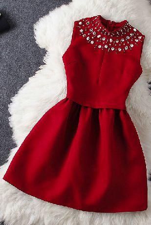 Beaded red dress