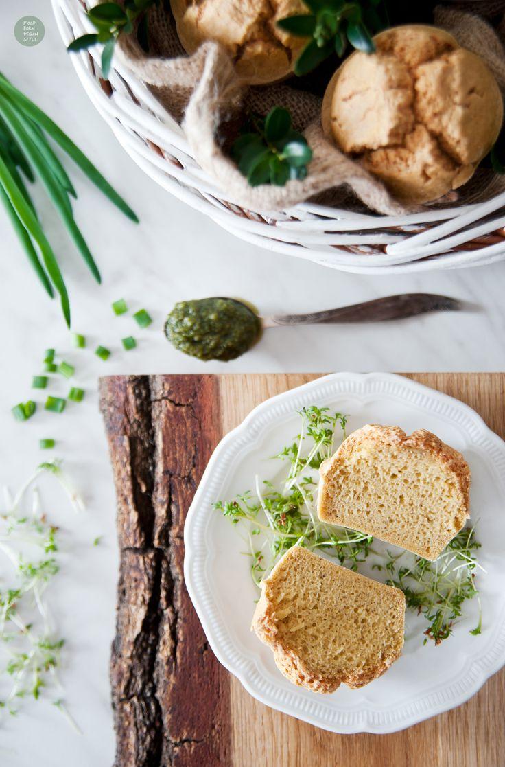 Vegan savory 'egg' muffins