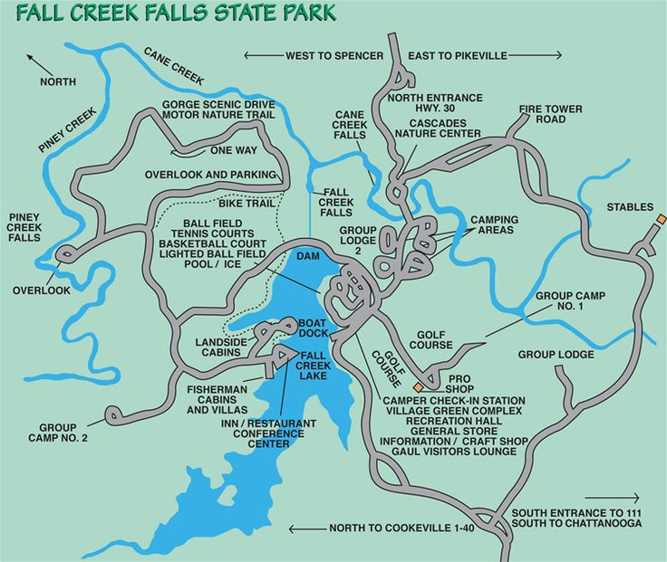 34 Best Frozen Head State Park Images On Pinterest Hiking: Fall Creek Falls State Park Map At Codeve.org