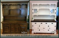 Kitchen Hutch Makeover Project - A Frog In My Soup