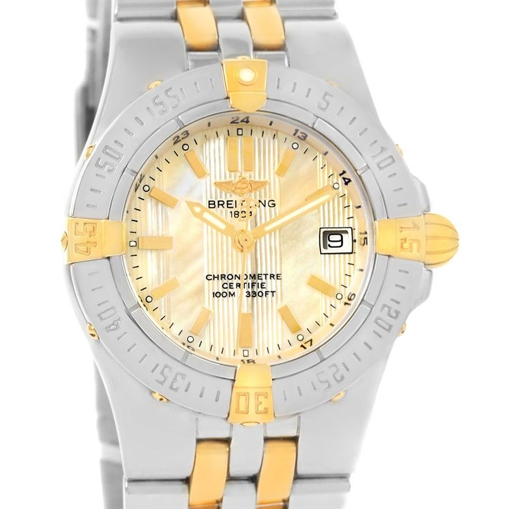 Breitling Starliner Steel 18K Yellow Gold MOP Dial Ladies Watch B71340
