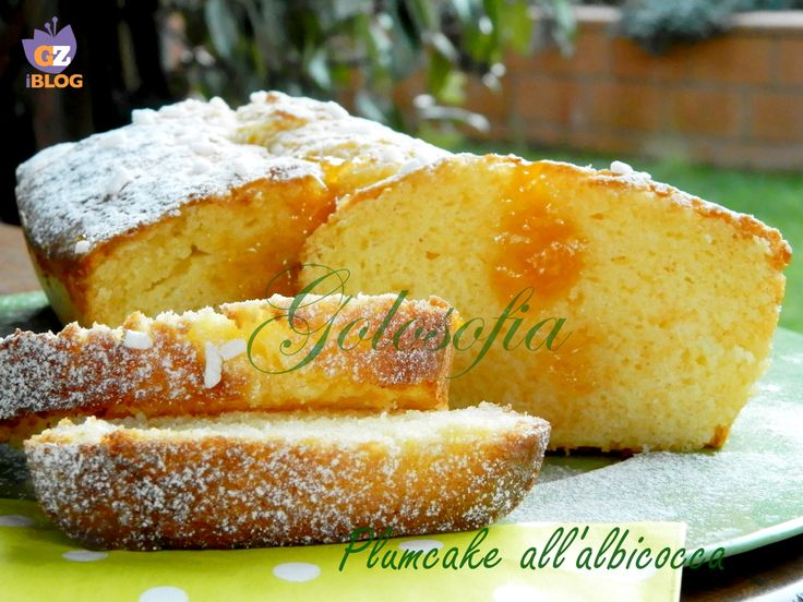 Plumcake con marmellata di albicocche, soffice dolce goloso, perfetto per la prima colazione, da inzuppare nel latte caldo!