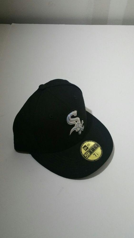 innovative design e9f4e a89df New Era Chicago White Sox 59Fifty Black MLB Fitted Hat Size 7 1 4  NewEra   BaseballCap  ChicagoWhiteSox