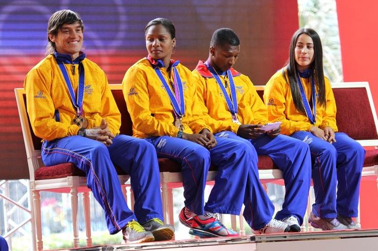 Nuestros medallistas olímpicos.  Crédito Miltón Ramírez/MinCultura 2012
