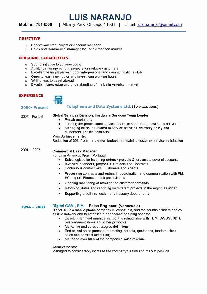 Account Executive Resume Examples New Resume Format For Back Office Executive Sample Resume For Di 2020