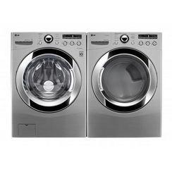 LG 4.6 cu. Ft. Ultra Large Capacity  Front Load SteamWasher™ & 7.3 cu.Ft. Ultra Large Capacity Electric SteamDryer™