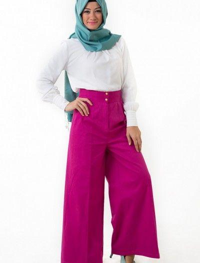 The Kendira Pantolon Etek P1995-5 Fuşya