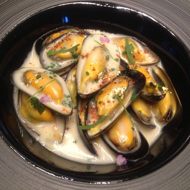 The best of the sea distilled in a bowl. Mussels #robuchon #macau (at ...