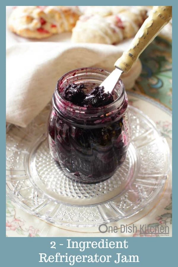 This is the easiest 2 ingredient refrigerator jam recipe! All you need is sugar …
