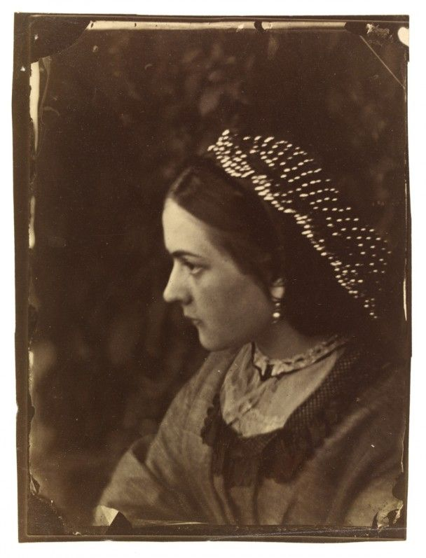Oscar Rejlander, 'Unknown Woman' [believed to be the artist's wife, Mary Bull], c.1863, albumen print, Victoria & Albert Museum, gift of Mrs Margaret Southam