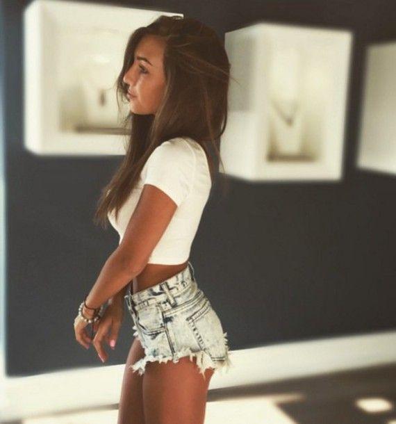 Girl in jean shorts tumblr can
