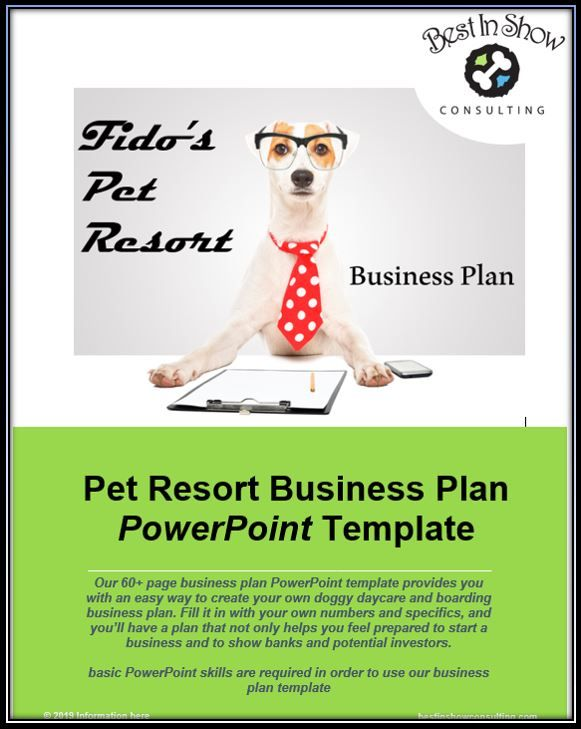 60+ page dog daycare and boarding business plan PowerPoint template
