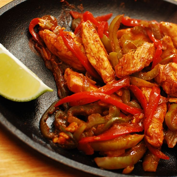 This easy chicken fajita recipe is a quick and spicy little dinner.. Easy Chicken Fajitas  Recipe from Grandmothers Kitchen.