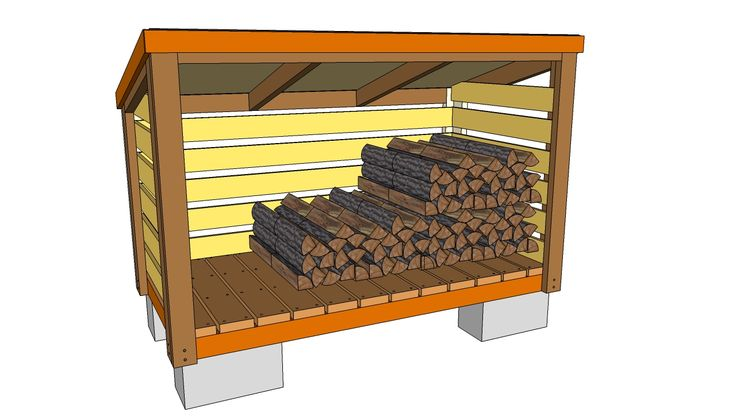 Firewood Shelter with Roof | Free Firewood Shed Building Plans How to ...