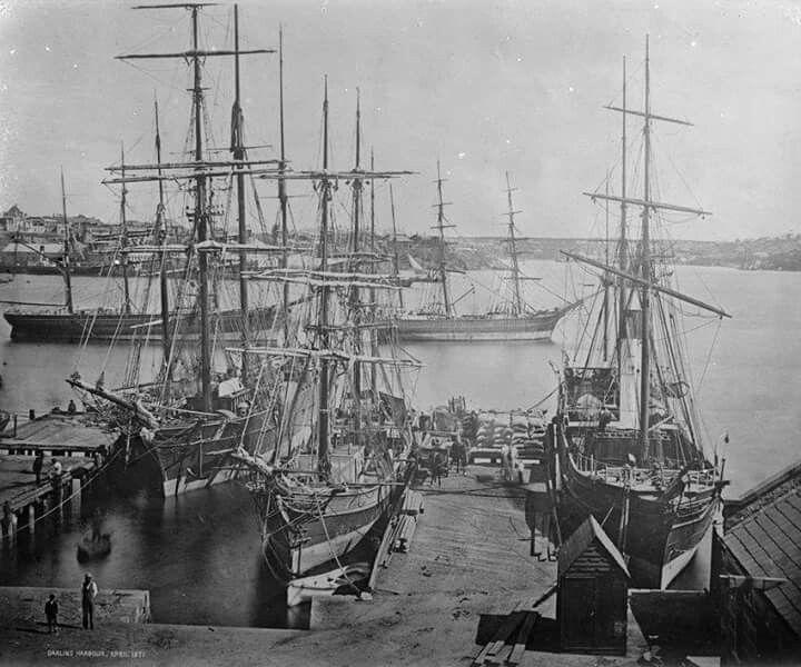 Darling Harbour,Sydney in April 1871.A♥W