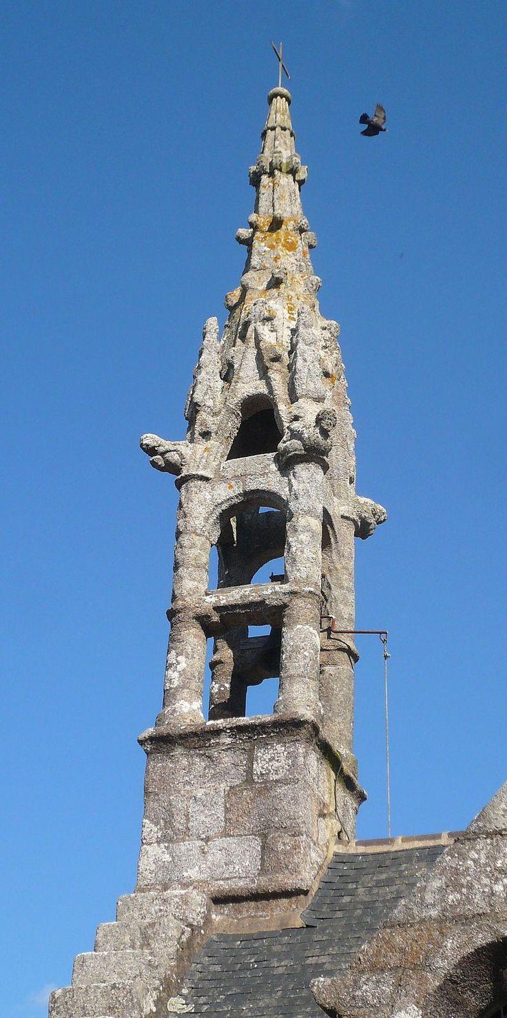 Clocher chapelle Sainte-Barbe Nevez - La chapelle Sainte-Barbe date du XVe siècle