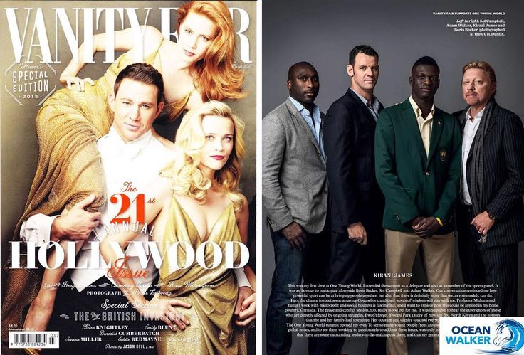My feature in Vanity Fair what a great honour!! Pictured with 400 metre London Olympic champion Kirani James,  tennis legend Boris Becker and ex England football captain Sol Campbell :) #everythingispossible #fitness #vanityfair #magazine #borisbecker #gym #lifestylemagazine #motivation #motivated #celebrity #triathletes #triathlon #openwaterswim #openwaterswimmer #openwaterswimming #swimming #gym #fitness #fitnessmotivation #kiranijames #solcampbell #sportlegends #football #tennis…