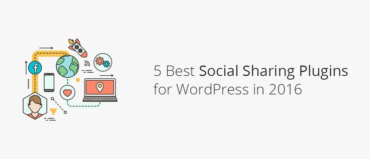 5 Best Social Sharing Plugins For WordPress In 2016 - intro graphic