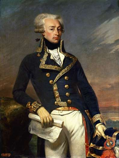 Marquis de Lafayette, Revolutionary War Continental Army Major General. A close friend of George Washington, Thomas Jefferson and Alexander Hamilton.  After the outbreak of the Revolutionary War in North America, he offered his services to the colonists, and refused to take any pay for his services. Motivated by the nobility of the war effort, he spent much of his own money to outfit the American Colonial Army with shoes and clothing.