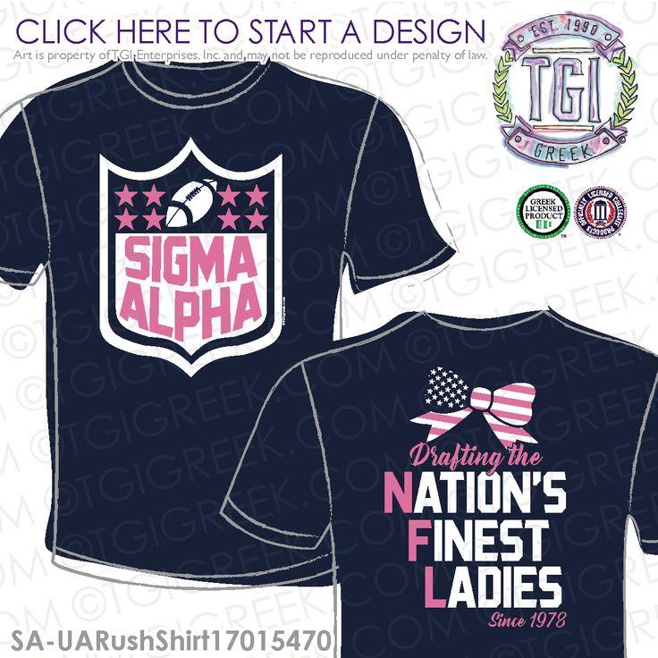 Sigma Alpha | ΣA | Rush | Rush Shirt | Drafting the Nation's Finest Ladies | Sorority Rush | TGI Greek | Greek Apparel | Custom Apparel | Sorority Tee Shirts | Sorority T-shirts | Custom T-Shirts