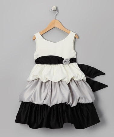 Take a look at this Black & White Tier Dress - Girls by Princess Faith on #zulily today!