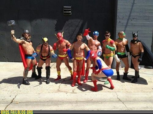 Another favorite thing:  attractive men and super heros!  Superbros