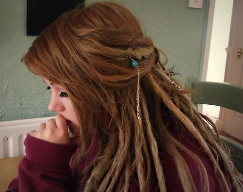 dreads can be just as chic as any other hair style.. and they do not have to look messy, or dirty the way some people associate dreadlocks ...<3 spread the dread love one dread-lock at a time <3