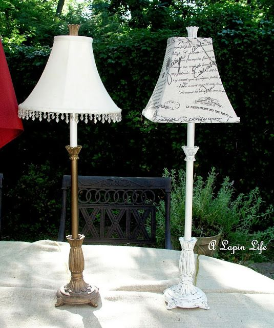 How to Update a Lamp with Annie Sloan Chalk Paint and a New Shade by A Lapin Life