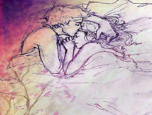 cuando me besa en la frente, el tiempo se detiene...