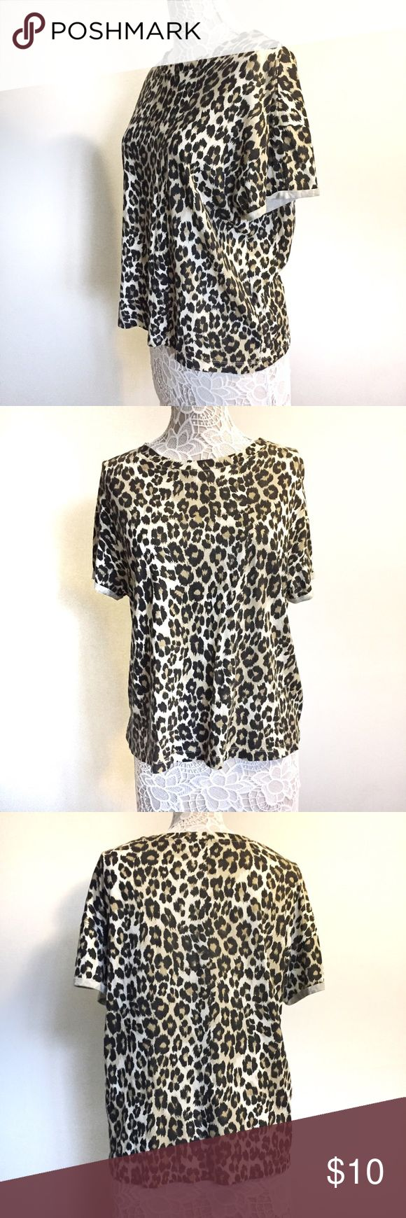 Zara Cheetah Print Shirt Zara Cheetah Print Shirt.  Size M, can fit S.  Pre owned, in very good condition. Zara Tops Tees - Short Sleeve