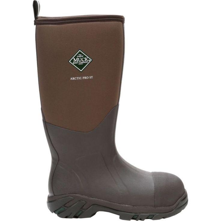 Muck Boot Men's Arctic Pro Steel Toe Waterproof Work Boots, Size: 14.0, Brown