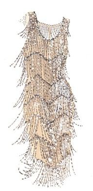 Flapper dress. Roaring '20s style.  This would be fabulous for a vintage 20s wedding or a very stylish flapper girl @ a costume party.