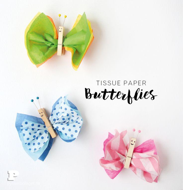 Pyssla fjärilar till påskriset