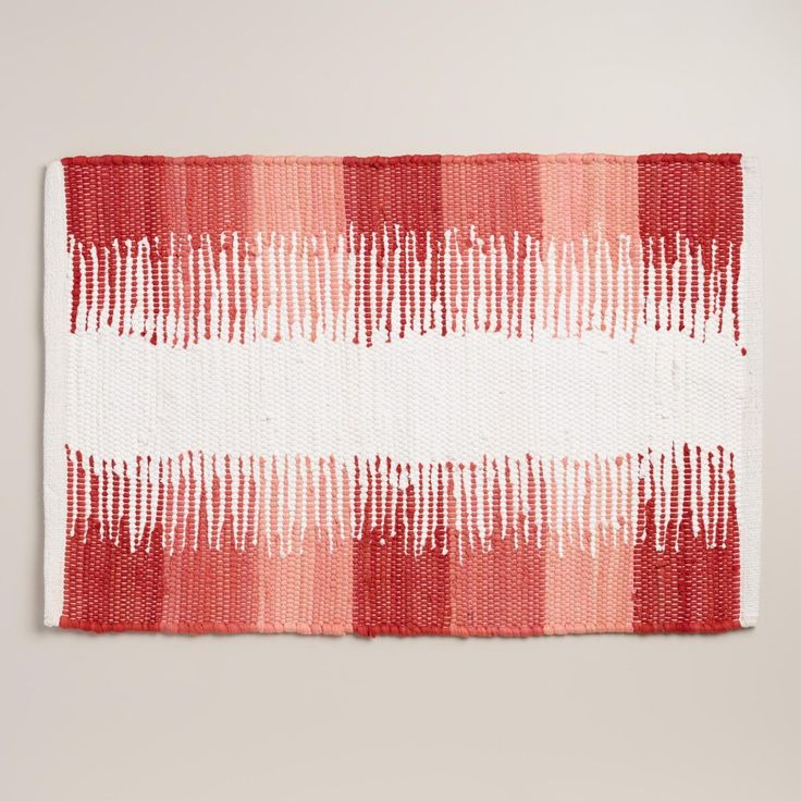 Bright Colors For Coral Bath Rugs : Coral Bath Rugs Color Block